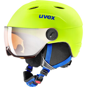 UVEX Junior Visor Pro Helm Kinderen, neon yellow mat